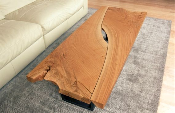 Reverse matched oak table - wood slabs available at http://www.BerkshireProducts.com