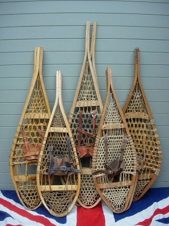 wooden canadian snow shoes; I know that I shouldn't complain, but after 5 months of winter I would rather be canoeing.