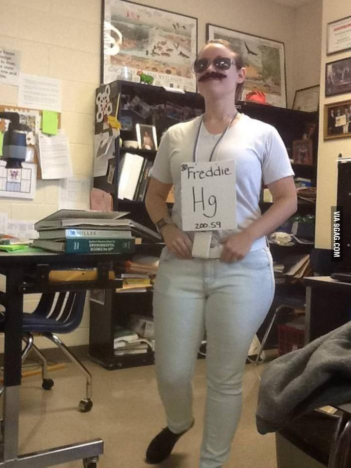 This is what my Chem teacher dressed up as for Halloween