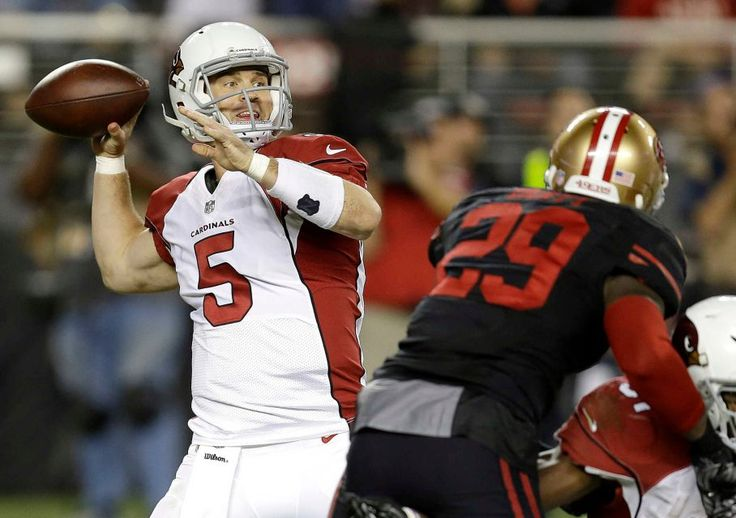 Thursday Night Football: Cardinals vs. 49ers  -  October 6, 2016:  33 - 21, Cardinals  -     Arizona Cardinals quarterback Drew Stanton (5) passes against the San Francisco 49ers during the second half of an NFL football game in Santa Clara, Calif., Thursday, Oct. 6, 2016.