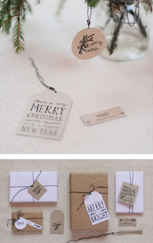 Free Printable Gift Tags http://studio.heylook.fi/freebies/handmadetags.pdf