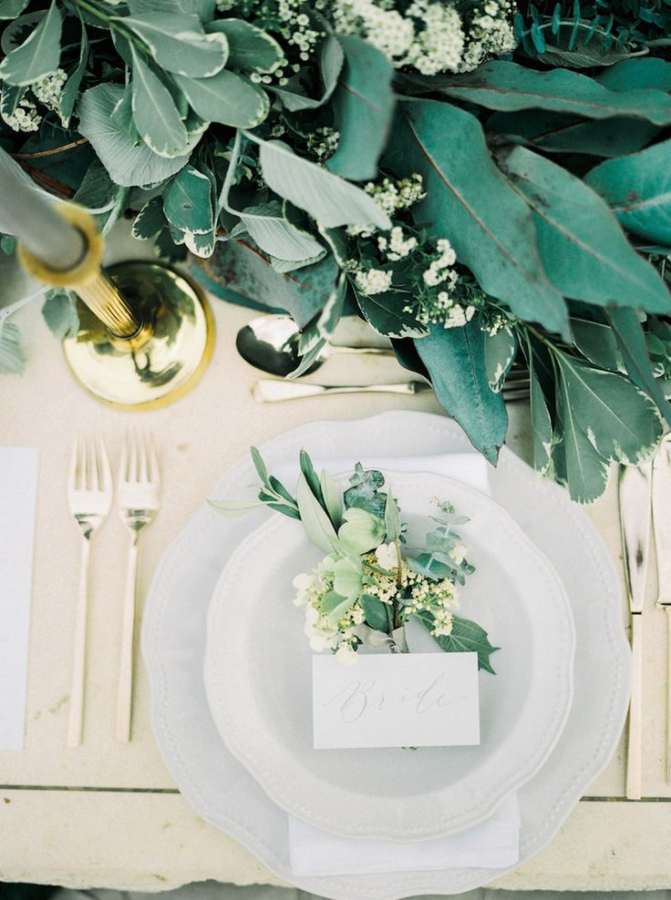 Bride Table Setting     Lily & Sage   Luxury Wedding Planning & Styling   Photography - Katie Julia   Flowers - Westwood Design   Stationary - Moon & Tide Calligraphy   Cutlery & Candle Holders Vintage Cold China.
