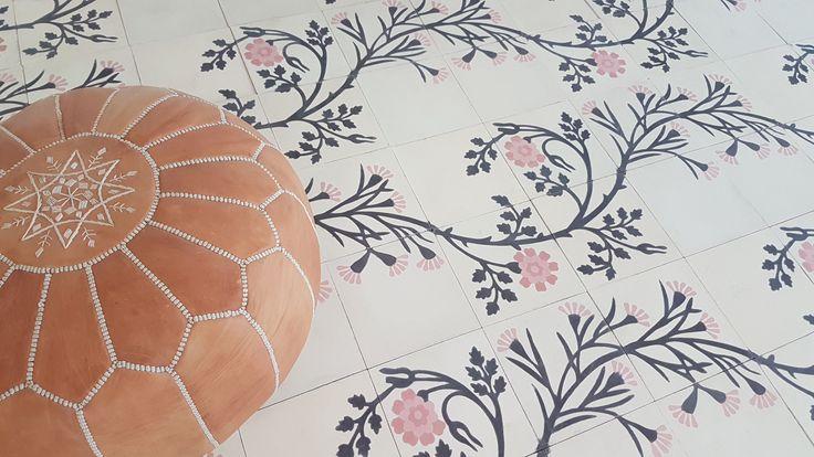 malena cement tiles in cream
