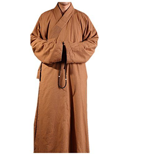 Katuo Winter Mens Medieval Monk Costume Buddhist DCotton Robe XL *** Learn more by visiting the image link.