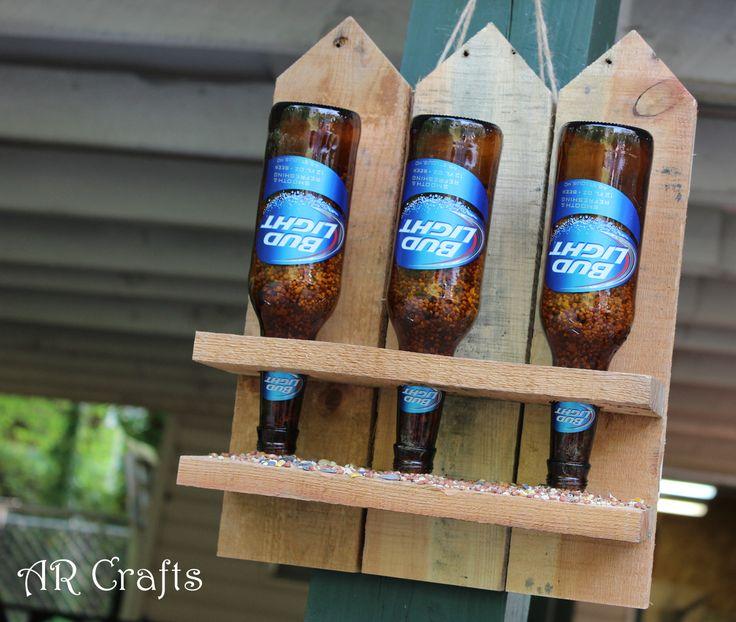 Recycled Beer Bottle Bird Feeder - Persona Paper