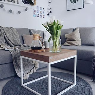 He's small, but gives a lot of happiness ☺🙌🏻#livingroom#livingroomdecor#coffeetable#coffeetime#relax#scandinavianhome#intrior123#interior4all#cozy#cozyhome#mylittlehomemypassion#hoomaroundthetable#woodentop#wood#naturalwood#instagood#photooftheday