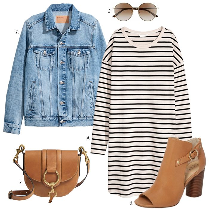 Spring Striped Dress Outfit