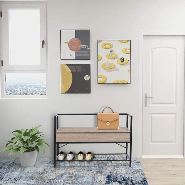 Flip Top And Shoe Storage Bench Bench With Shoe Storage Storage Bench Hallway Organization