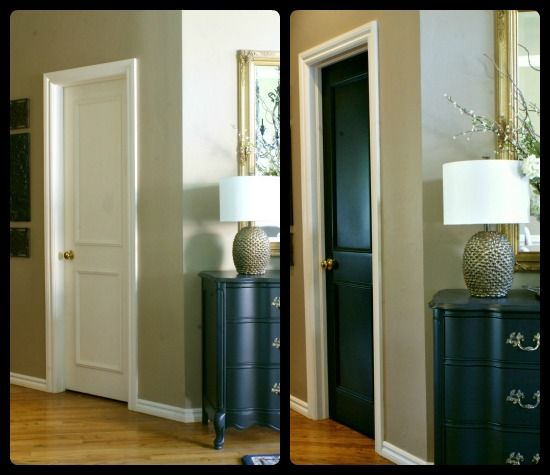 color to paint interior doors paint makes she started by painting. Black Bedroom Furniture Sets. Home Design Ideas