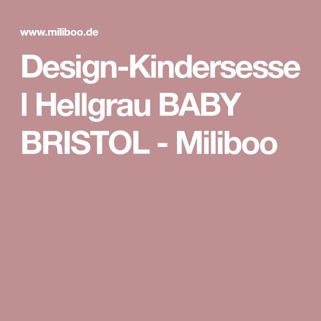 Design-Kindersessel Hellgrau BABY BRISTOL - Miliboo