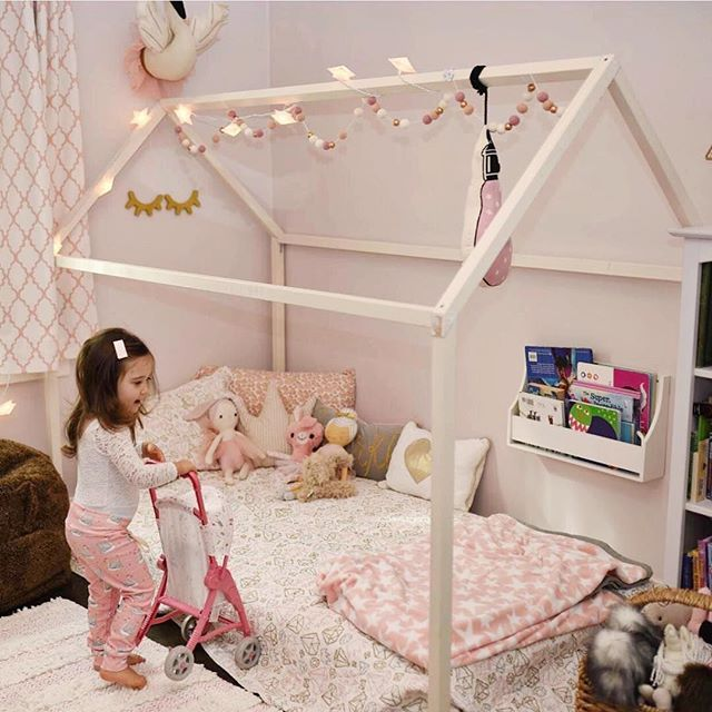 Little Girl Room Inspo With Montessori House Bed Frame From