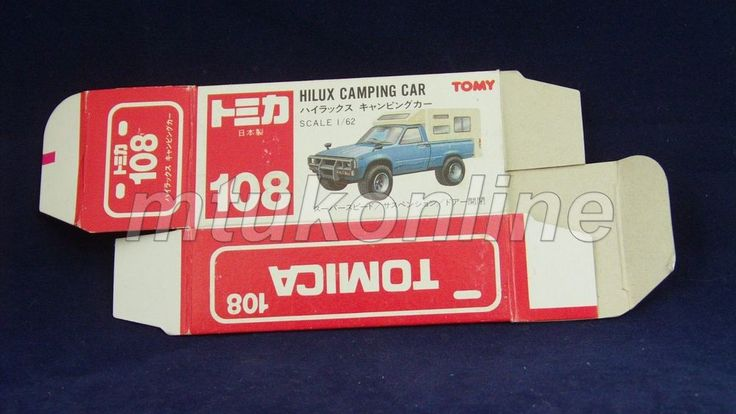 TOMICA 108 TOYOTA HILUX | JAPAN | 1988-1993 | DETAILED TYPE RED BOX ONLY
