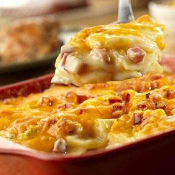 Country Scalloped Potatoes Recipe. Not healthy by any stretch of the imagination but this sounds so yummy