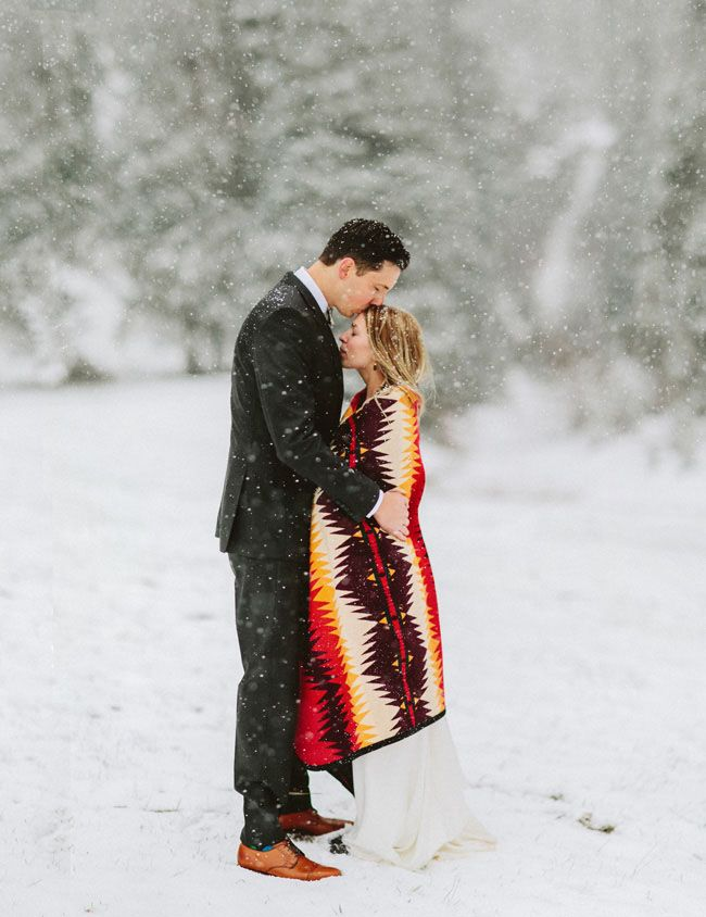 Snowy Colorado Elopement: Jen + Andy | Green Wedding Shoes Wedding Blog | Wedding Trends for Stylish + Creative Brides