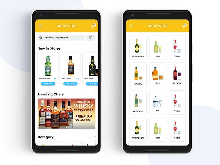 Drinkster - Liquor Shop App | Android | UI/UX