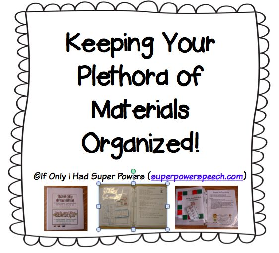Retaining your supplies organized!