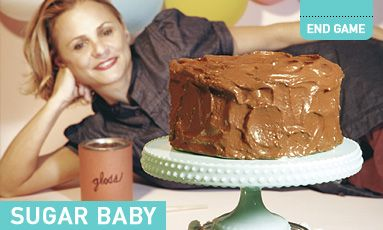 Amy Sedaris makes a fake cake for Ready Made magazine