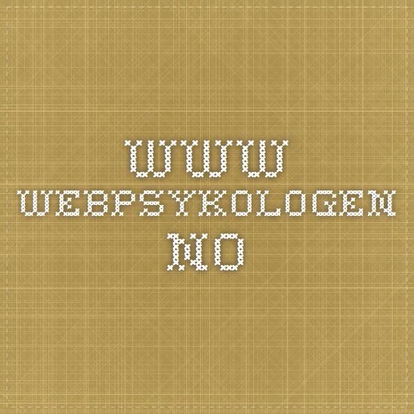 www.webpsykologen.no