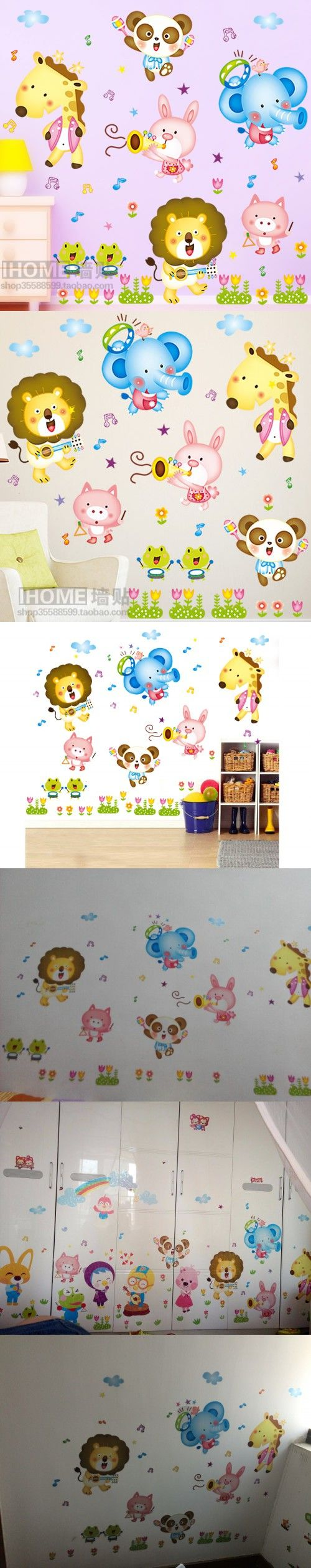 best 20 autocollant mural ideas on pinterest autocollants autocollant mural pegatinas pared infantiles cartoon animal wall stickers child wall paper kids baby room bedroom