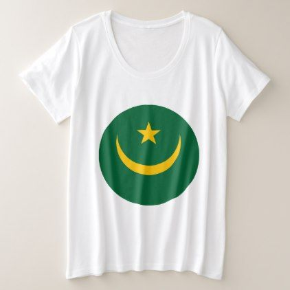 #Mauritania Flag Plus Size T-Shirt - #country gifts style diy gift ideas