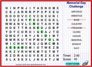memorial day challenge crossword