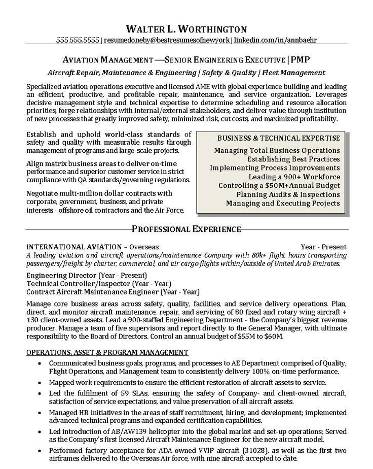 operations executive resume samples - Aircraft Performance Engineer Sample Resume