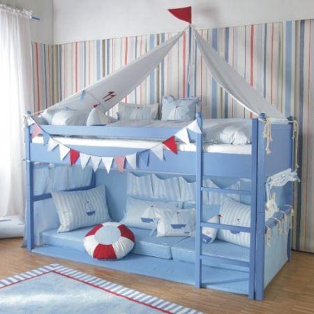 Fantasy Boys Bed/ Sailboat Cabin Bed / Designer Mid Sleeper Beds