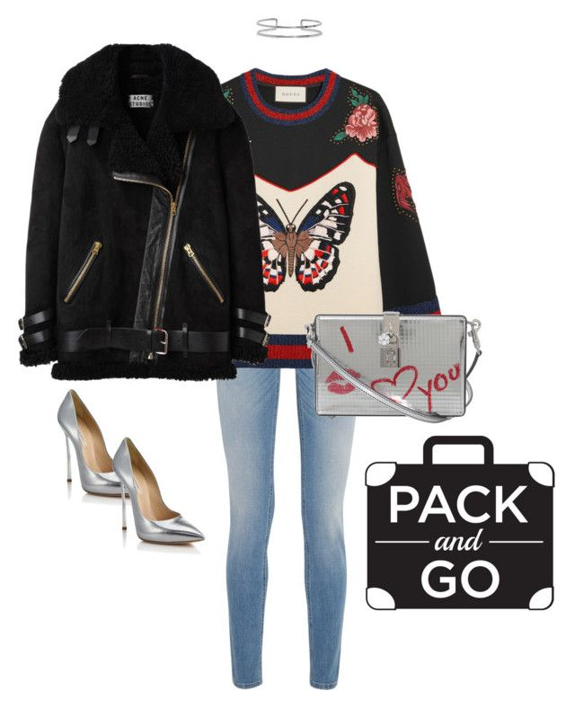 """""""Pack & Go!"""" by luluuheree on Polyvore featuring Givenchy, Gucci, Dolce&Gabbana, Acne Studios, Casadei and Boohoo"""