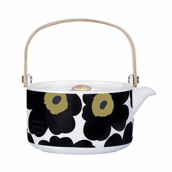 Brew up warm memories and spark great conversation during your next teatime with this piece of functional art. Marimekko Black Unikko Teapot – Special Anniversary Edition - $98