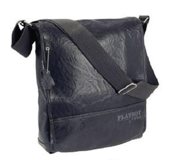 Bolso Playboy Dog Tag Messenger Bag Black