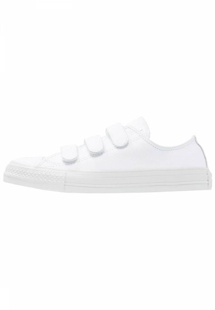 Converse. CHUCK TAYLOR ALL STAR 3V - Zapatillas - white. Suela:fibra sintética. Forma del tacón:plano. Plantilla:tela. Puntera:redonda. Estampado:unicolor. Material interior:tela. Cierre:velcro. Material exterior:piel