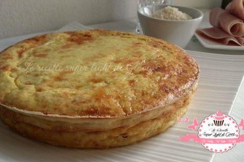 Torta salata light con ricotta e prosciutto cotto (184 calorie)
