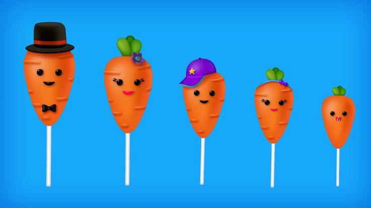 The Finger Family Carrot Cake Pop Family Nursery Rhyme | Carrot Cake Pop Finger Family Songs