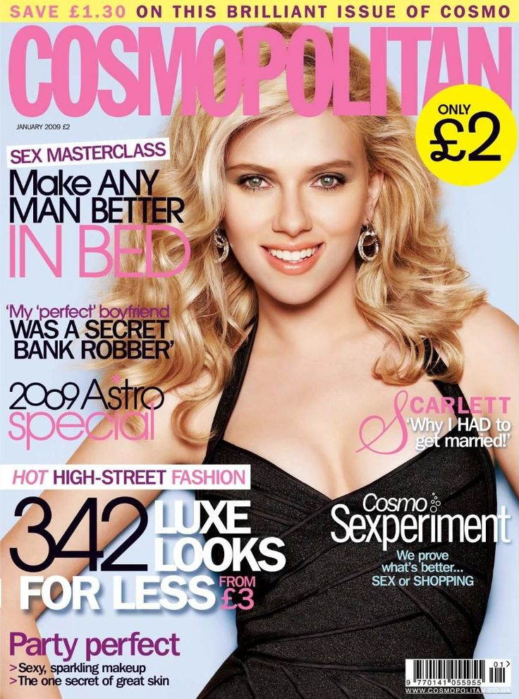 scarlett johansson magazine covers | Cosmopolitan UK cover with Scarlett Johansson - January 2009 - ID5543
