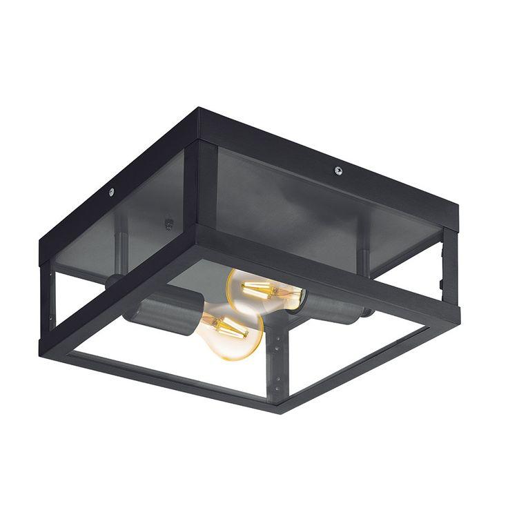Alamonte 1 Taklampe Sort - Alamonte 1 er en serie utelamper fra Eglo med enkel og populær design. Lampene er stilrene og utført i sort galvanisert stål med klart glass. Serien vil kunne dekke hele ditt behov for å lyssette hage og uteplass, og består av stolpe, hengende taklampe, plafond, vegglampe og bordlampe.