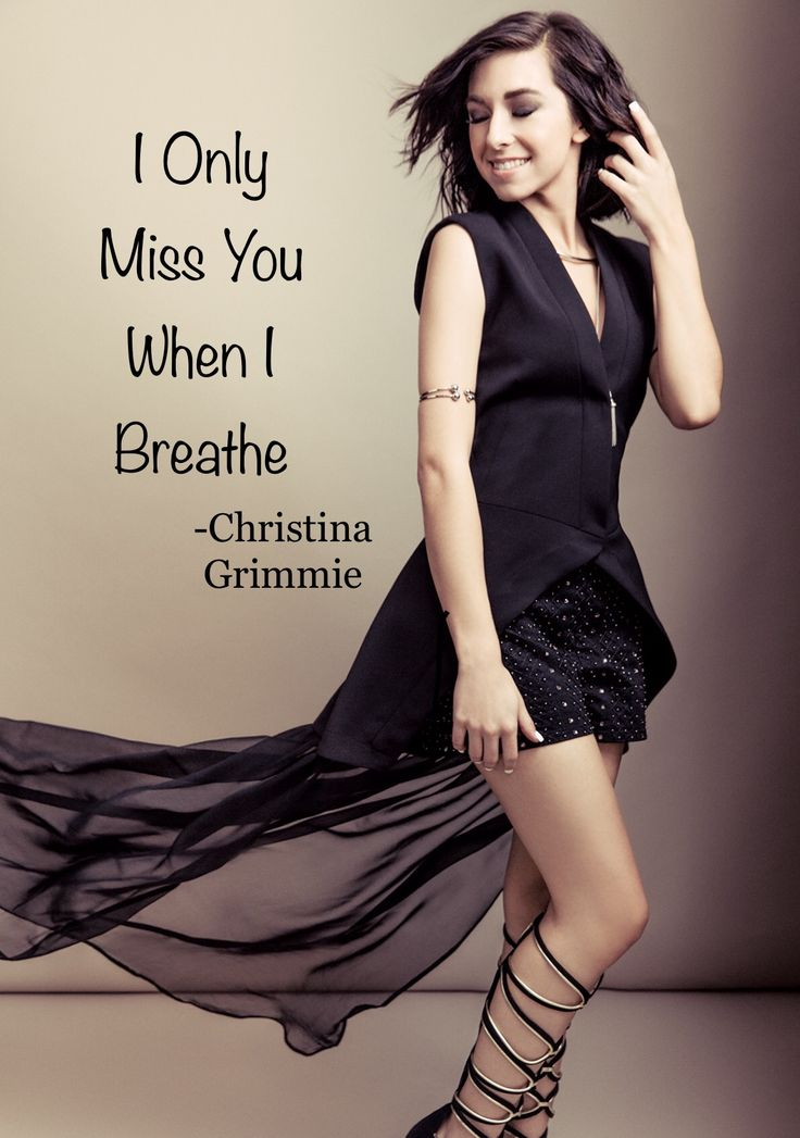 """Side B"" Christina Grimmie ""I only miss you when I breathe"""