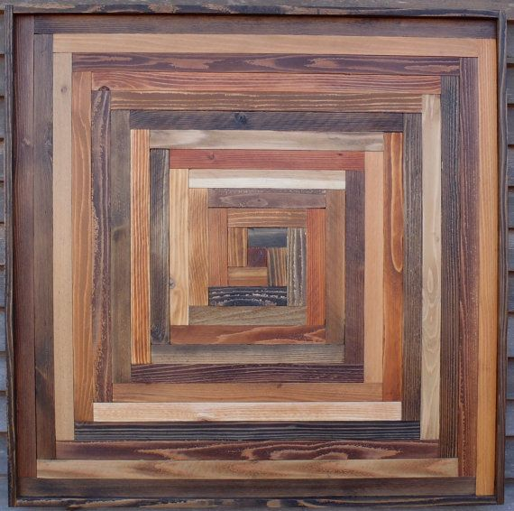 Reclaimed Wood Artwork Wall Sculptures Quilt by AlleyCatDesignSt