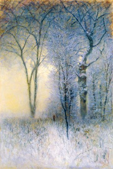 Mednyánszky László - Zúzmarás erdő (Szeles hajnal), 1896 előtt