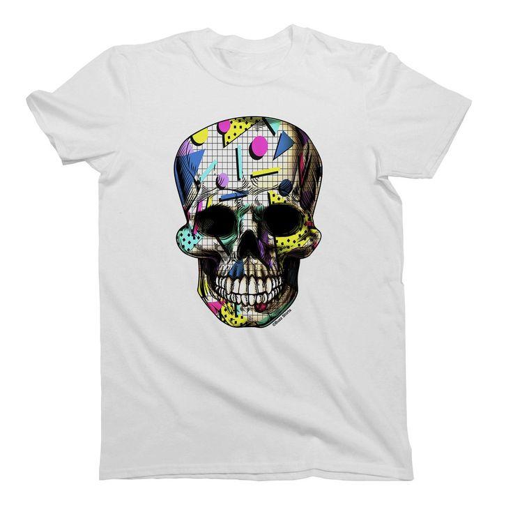 Retro 80`s Party Skull