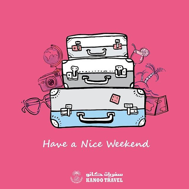 Have a nice weekend 😀✈️😍 #thursday #travel #infographic #blue #vacation #tips #questions #red #KSA #UAE #Qatar #Bahrain #Oman #Offers #weekend #weekendvibes #Kanootravel