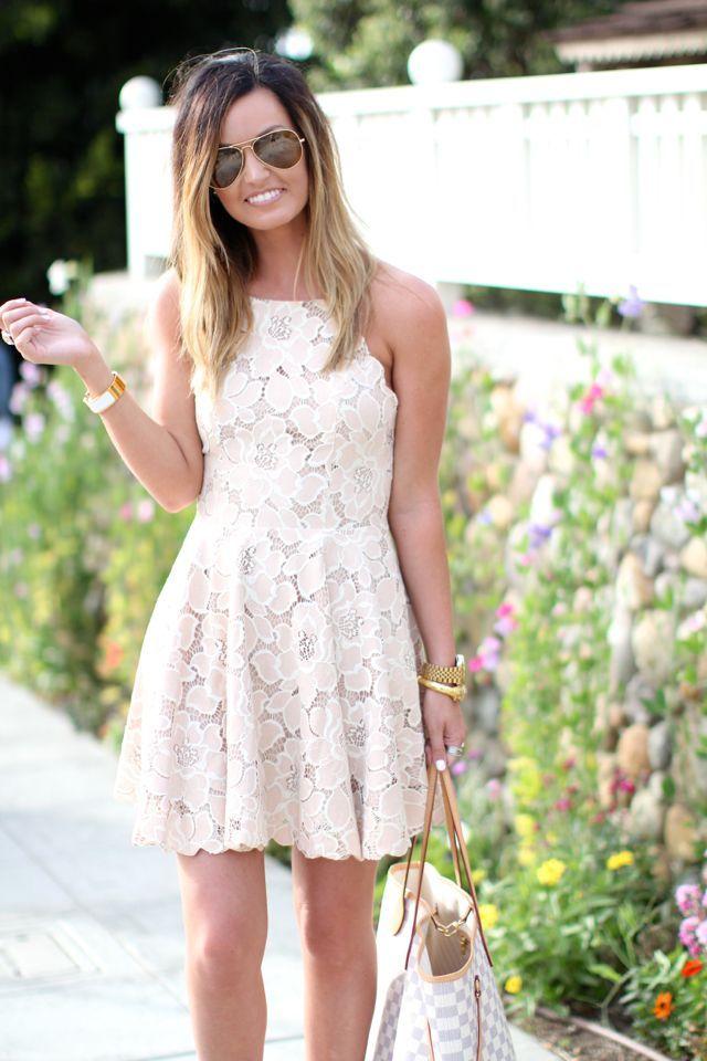 Lace Blush Dress | La Jolla, CA