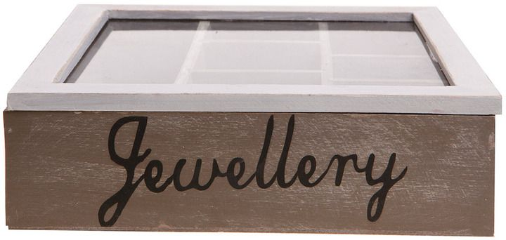 Sass & Belle grey wooden jewellery box on shopstyle.co.uk