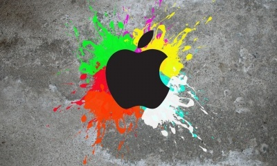 Apple Colorful Background
