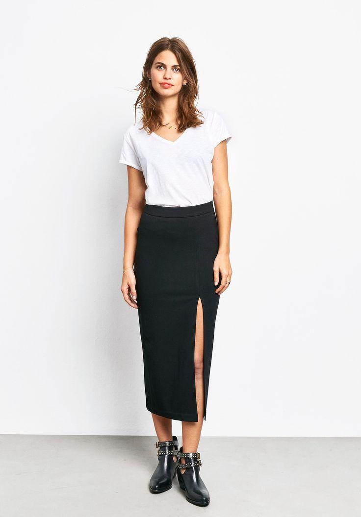 Jersey Split Skirt from hush