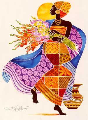 Joy - It's A Black Thang.com - Keith Mallett Art work - African American Art