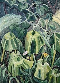 Pumpkin leaves drooping - Grace Cossington Smith