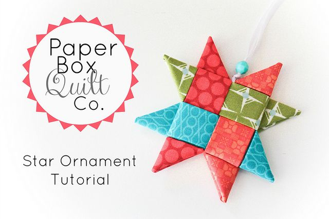 Ornament Tutorial by Inside The Paper Box// this would be a great way to use pretty leftover Christmas wrapping paper.