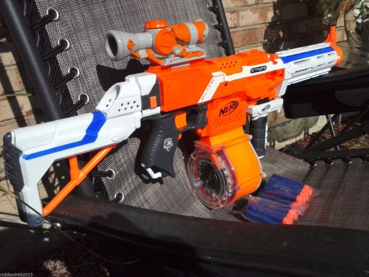 Ultimate Nerf Sniper XL Dart Gun Scope Stock Handle & Silencer ALL NEW TOY