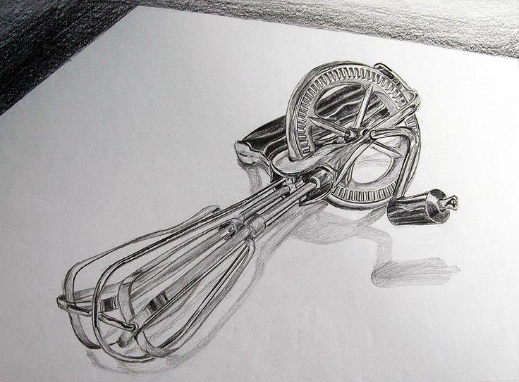Object Drawing - Kitchen Utensil (Medium: Pencil on Paper)