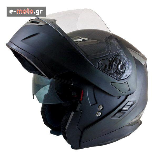 Κράνος Ανοιγόμενο MT Helmets Flux με Εσωτερική Φιμέ Ζελατίνα Μαύρο